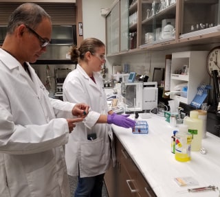Image: EPA laboratory in Houston is conducting analytical testing of Indulin AA-86 and drinking water from Corpus Christi, Texas.