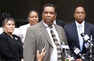 Image: Madison speaks to the media after the sentencing of former New Orleans police officers who were convicted in the deadly shootings of unarmed civilians on the bridge and a subsequent cover-up after Hurricane Katrina in New Orleans