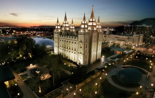 Image: The Mormon Temple in Salt Lake City, Utah