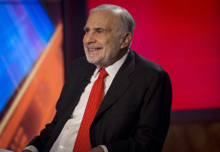 Image: Carl Icahn gives an interview on FOX Business Network's Neil Cavuto show in New York in this file photo