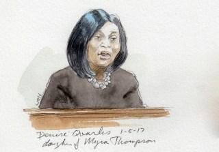 Image: Denise Quarles, daughter of Myra Thompson