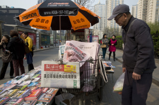 Image: Newsstand selling China's Global Times