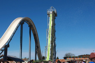 Image: The Verr?ckt water slide is pictured at the Schliiterbahn Water Park in Kansas City. It was billed as the world's tallest waterslide.