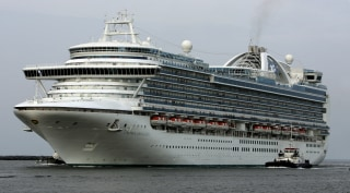 Image: File photo of cruise ship Crown Princess travelling into Port Canaveral, Florida