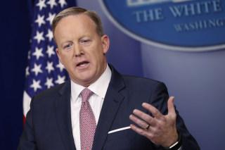 Image: White House Press Secretary Sean Spicer holds first press briefing, Washington, USA - 23 Jan 2017