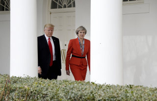 Image: President Trump holds bilateral meeting with British Prime Minister May