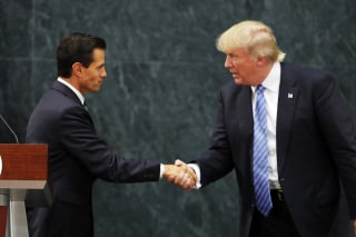 Image: Mexican President Enrique Pena Nieto and President Trump in Mexico City on Aug. 31, 2016.