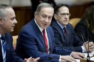 Image: Israeli Prime Minister Benjamin Netanyahu attends his weekly cabinet meeting