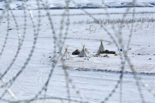 IImage: Outskirts of the Dakota Access oil pipeline protest camp