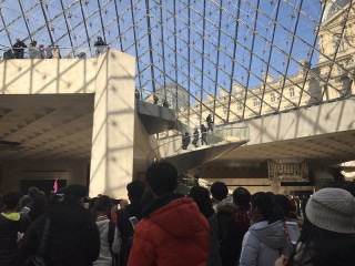 Image: Aftermath of attack near the Louvre museum