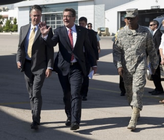 IMAGE: Ash Carter, Eric Rosenbach and Ronald Lewis