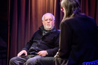 "Image: Ken Ehrlich and Scott Goldman speak during a talk titled, ""Icons of the Music Industy: Ken Ehrlich at The GRAMMY Museum"" on Jan. 31, 2017 in Los Angeles, California."