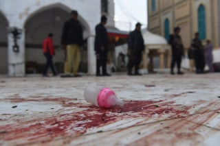 Image: Aftermath of Lal Shahbaz Qalandar attack