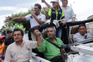 Image: Lenin Moreno with supporters