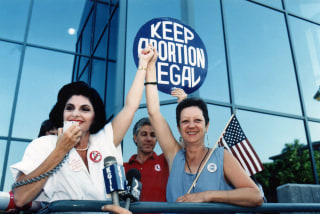 Image: Gloria Allred Norma McCorvey Pro Choice Rally