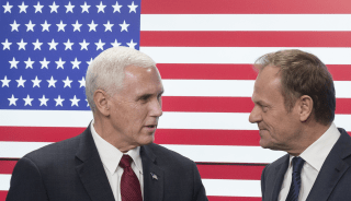 Image: Mike Pence and Donald Tusk