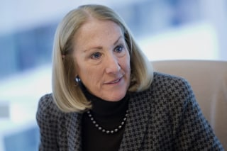 Image: Anne Mulcahy, former chairman and chief executive officer of Xerox Corp., speaks during an interview in New York on March 5, 2014.