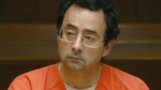 Image: Larry Nassar appears in Ingham County, Michigan, court for an arraignment on new sex abuse charges.