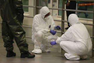Image: Hazmat team conducts checks in Kuala Lumpur International Airport 2