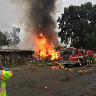 IMAGE: Riverside, California, plane crash