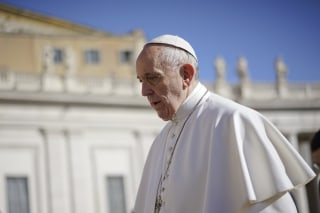 Image: Pope Francis arrives for his weekly general audience in St.Peter's Square