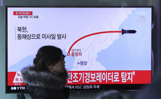 Image: North Korea fires missile