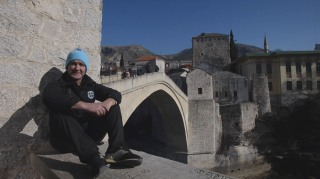 Image: Semir Kazacic-Miro is a regular diver from Mostar's Old Bridge.