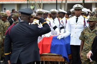 Image: HAITI-PREVAL-FUNERAL