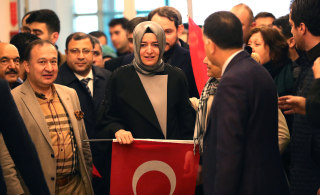 Image: Turkish Family Minister Fatma Betul Sayan Kaya back to Istanbul