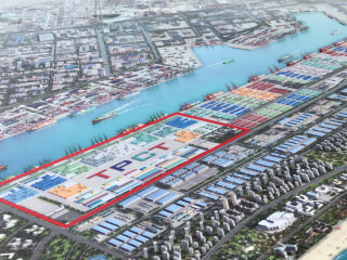 Image: Model of Tianjin port area construction plan