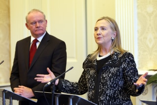 Image: Martin McGuinness and Hillary Clinton in 2012