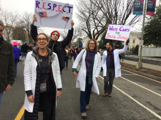 Doctors Protest in Women's March Following Inauguration