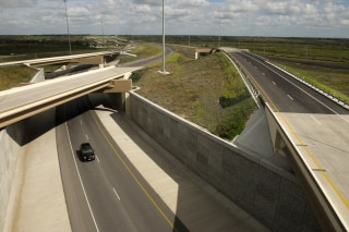 Image: The final southern portion of SH130 toll road from Georgetown, TX north of Austin to Seguin near San Antonio opens in central Texas with the fastest speed limit in the country at 85 miles per hour