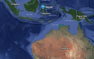 Images: A map showing Sulawesi island