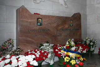 Image: Tomb of Enzo Ferrari in Modena, Italy