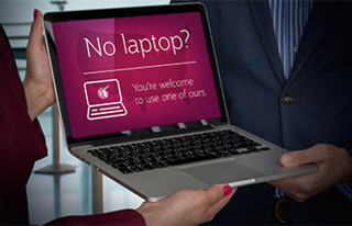 Image: Qatar Airways announces offer of replacement laptop to passengers on all flights to the U.S. in response to the Electronics Ban.
