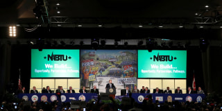 Image: President Donald Trump speaks at the NABTU Conference in Washington