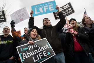 Image: Anti-abortion advocates rally outside of the Supreme Court