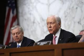 Image: Sen. Orrin Hatch speaks on Capitol Hill