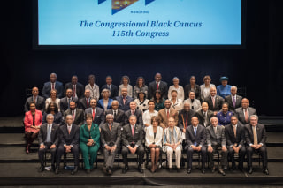 Image: Group photo of the members of the Congressional Black Caucus