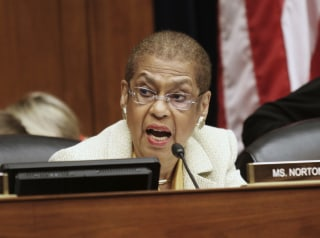 Image: Del. Eleanor Holmes Norton, D-D.C. speaks on Capitol Hill