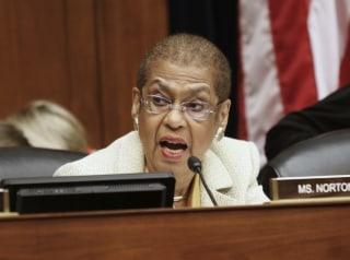 Image: Del. Eleanor Holmes Norton, D-D.C. speaks on Capitol Hill