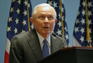 Image: US Attorney General Jeff Sessions in New York