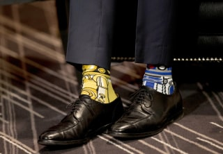 Image: Canada's PM Trudeau wears Star Wars themed socks