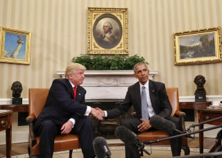 Image: Barack Obama, Donald Trump