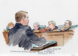 Image: Richmond Sketches: IRAP v Trump