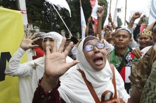 "Image: Muslim protests against ""Ahok"""