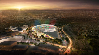 Image: Los Angeles' Olympic bid committee rendering shows how L.A. Stadium at Hollywood Park would look like