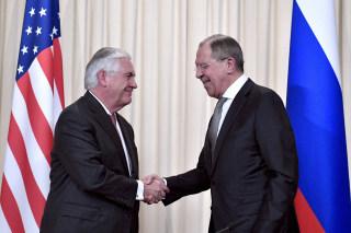 Image: Sergei Lavrov and Rex Tillerson