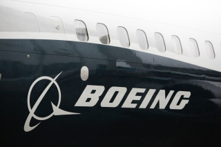 Image: Boeing logo on a 737 Max 9